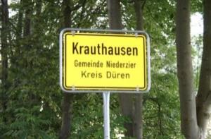 Krauthausen Startseite Ortsschild
