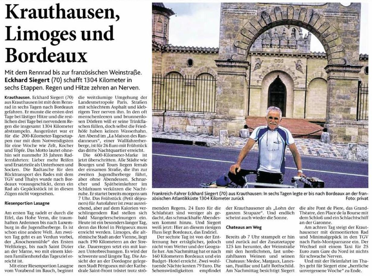 Krauthausen Limoges und Bordeaux
