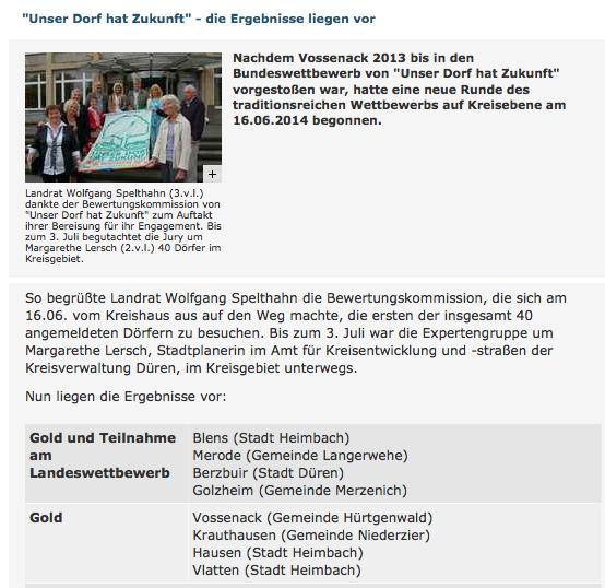 Golddorf 2014