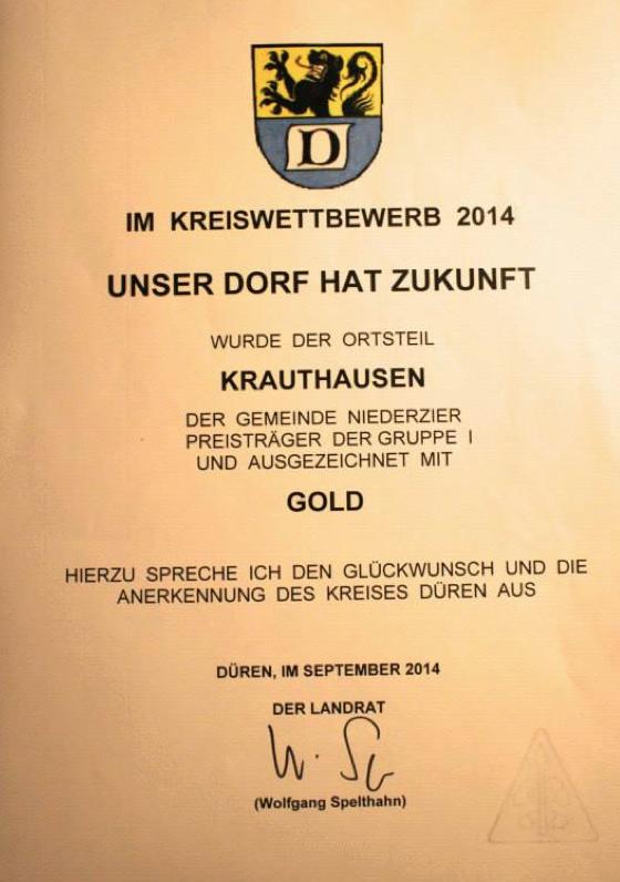 Kreiswettbewerb Urkunde 2014